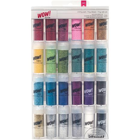 WOW! 24-piece Extra-Fine Glitter Collection