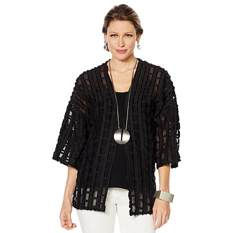 WynneLayers Novelty Fringe Box Kimono