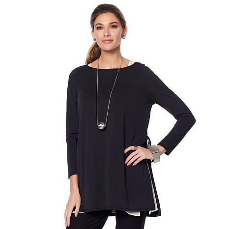 WynneLayers Washed Modal Side Tie Tunic