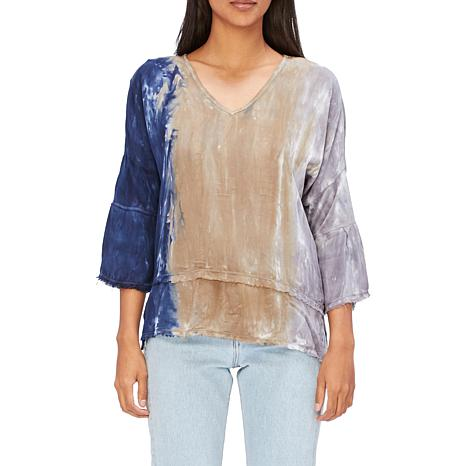 XCVI Voile Fringed Top