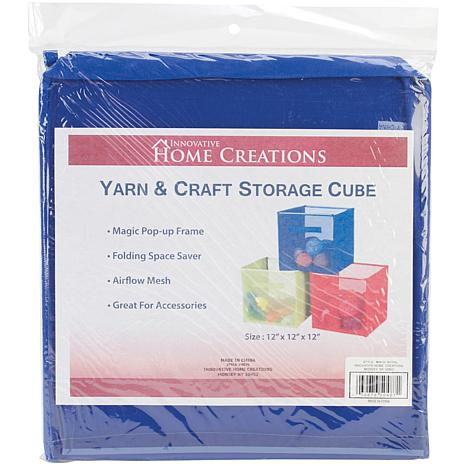 "Yarn and Craft Storage 12"" Cube - Royal"