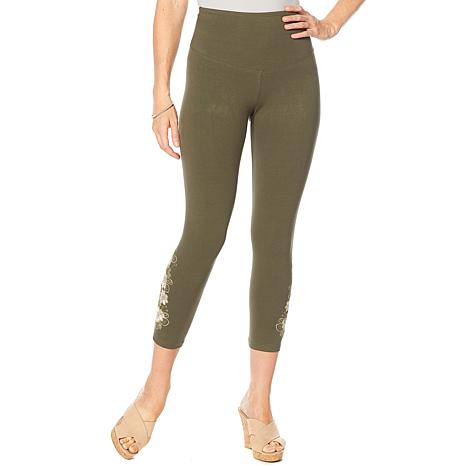 Yummie Artisan Floral Embroidered Legging