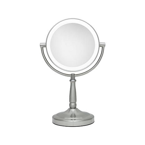 Zadro Cordless Dual Sided Led Vanity Mirror Nickel