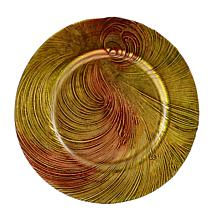 10 Strawberry St Cyclone Glass Charger Plate - Set of 4