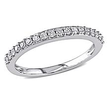 10K White Gold 0.24ctw Diamond Stackable Ring