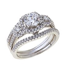1.49ctw Absolute™ Round Halo 3-piece Ring Set