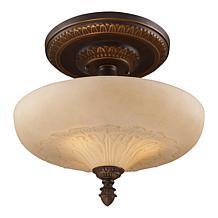"""15"""" Semi-Flush Ceiling Light - Golden Bronze"""