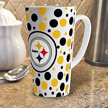 Officially Licensed NFL 16 oz. Polka Dot Latte Mug