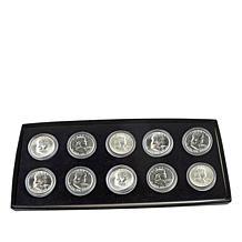 1954-1963 P-Mint Last Decade Franklin Silver Half Dollars - Set of 10