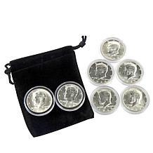 1960s P & D Mint Silver Kennedy Half Dollars 1964-1969