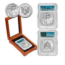 2015 MS69 ICG Philadelphia-Mint Silver Eagle Dollar