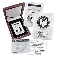2016 PR70 PCGS Premier Label First Edition Silver Eagle