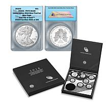 2018 PR70 ANACS DCAM FDOI LE of 459 S-Mint Silver Proof 8-Coin Set