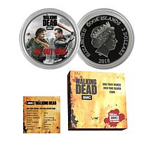 2018 Walking Dead All Out War Cook Islands $2 Silver Coin - Auto-Ship®