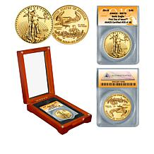 2019 MS70 ANACS First Day of Issue Limited Edition $50 Gold Eagle Coin