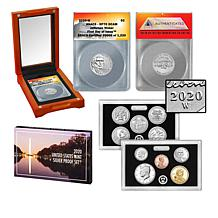2020-W RP70 FDOI LE 1220 Jefferson Nickel & U.S. Mint Silver Proof Set