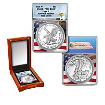 2021 PR70 DCAM ANACS Advance Release Limited 706 Type II Silver Eagle