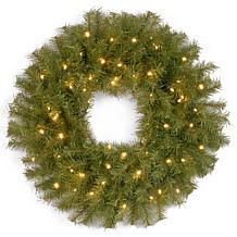 "24""Battery-Operated Norwood Wreath w/LEDs"