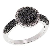 .33ctw Black and White Pavé Diamond Sterling Silver Ring