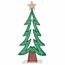 "72"" Premium Fabric Mesh Christmas Tree with 250 Warm White LED Lights"
