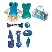 8-piece Duffle Bag Pet Toy Set