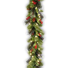 9' Crestwood Spruce Garland with LED Lights
