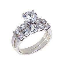 Absolute™ 2.14ctw Cubic Zirconia Bridal Ring Set