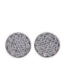 Absolute™ .38ctw Cubic Zirconia Pavé Disc Stud Earrings