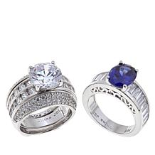 Absolute™ 9.08ctw Clear Cubic Zirconia 3-piece Ring Guard Set