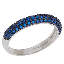Absolute™ Sterling Silver Cubic Zirconia Pavé Band Ring