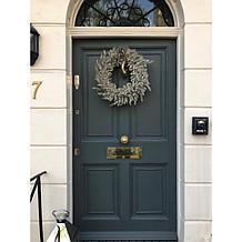 "Alison at Home 22"" LED Glitter Leaf Wreath"