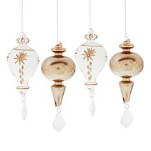Alison at Home Glass Icicle Ornaments Set of 4