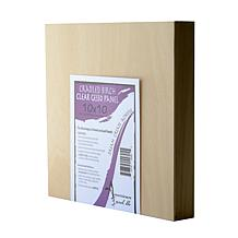 """American Easel 10"""" x 10"""" Clear Gesso Primed Wood Painting Panel"""