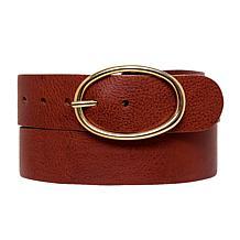 Amsterdam Heritage Elsa Oval Ring Leather Belt