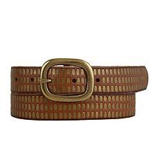Amsterdam Heritage Nadin Studded Cognac Leather Belt