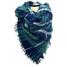 Anna Cai Green Plaid Blanket Scarf
