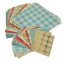 Anna Griffin® 72-piece Fall Plaid Cardstock Set