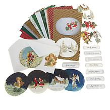 Anna Griffin® Snow Globe Easel Card Stock and Embellishments