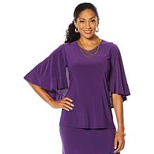 """Antthony """"Captivating Collection"""" Ruffle Cascade Top"""