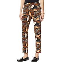 Antthony Printed Pull-On Straight-Leg Pant