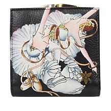 Anuschka Hand-Painted Leather 2-Fold Wallet with Coin Pocket