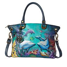 Anuschka Hand Painted Leather Large Satchel