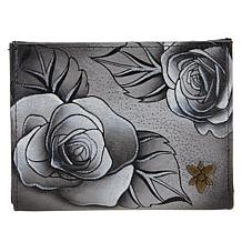 Anuschka Hand-Painted Leather Mini-Two-Fold Wallet
