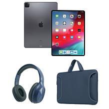 "Apple iPad Pro 12.9"" Wifi w/Bluetooth Headphones & Carry Case"