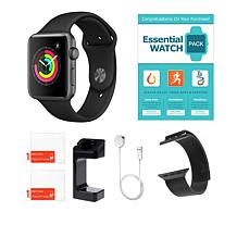 Apple Series 3 Water-Resistant Sports Watch w/GPS & Extra Band