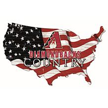 Arizona Diamondbacks USA Shape Flag Cutout