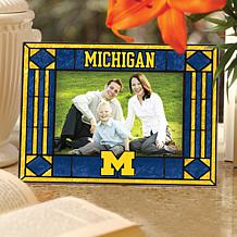 Art Glass Horizontal Photo Frame - Univ of Michigan