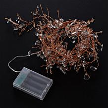 """""""As Is"""" august & leo Crystal Beaded LED String with Timer"""