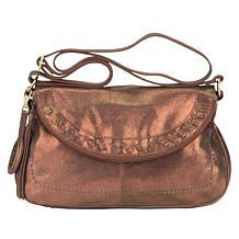 """As Is"" Born Janice Leather Crossbody Bag"