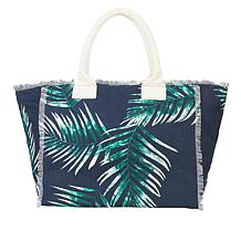 """""""As Is"""" G by Giuliana Palm Print Canvas Tote"""